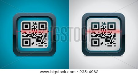 Vector QR code scanner icon
