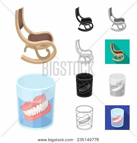 Human Old Age Cartoon, Black, Flat, Monochrome, Outline Icons In Set Collection For Design. Pensione
