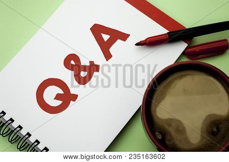 Handwriting Text Writing Q A. Concept Meaning Ask Frequently Faq Asked Question Help Solving Doubt Q