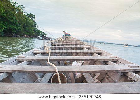 Thai Longtail Boat In Nai Yang Beach, Phuket, Thailand