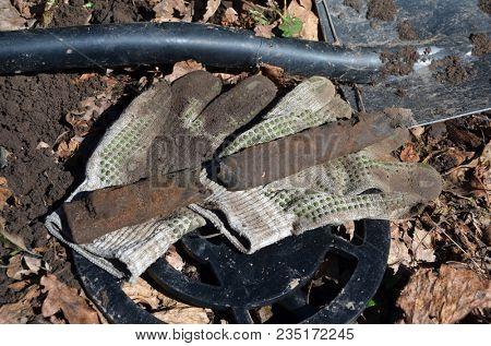 Soviet bayonet sheath remains of WWII.Found with metal detector near Kiev.