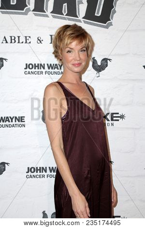 LOS ANGELES - APR 5:  Ashley Scott at the Yardbird Southern Table & Bar Los Angeles Grand Opening on the Yardbird Southern Table & Bar on April 5, 2018 in Los Angeles, CA