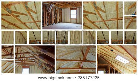 Insulation Of Attic With Fiberglass Cold Barrier And Insulation Material Thermal Insulation Attic Ph