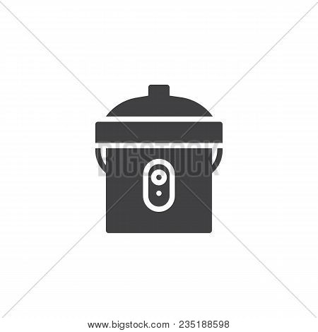 Multi Cooker Vector Icon. Filled Flat Sign For Mobile Concept And Web Design. Kitchenware Rice Cooke