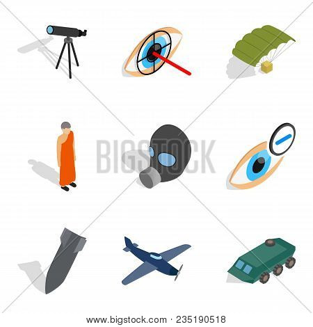 Craft Production Icons Set. Isometric Set Of 9 Craft Production Vector Icons For Web Isolated On Whi
