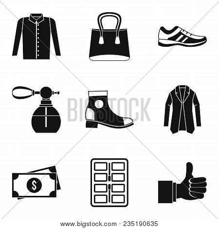 Fashion Pay Icons Set. Simple Set Of 9 Fashion Pay Vector Icons For Web Isolated On White Background