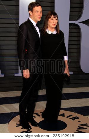 LOS ANGELES - MAR 4:  James Jagger, Anjelica Huston at the 24th Vanity Fair Oscar After-Party at the Wallis Annenberg Center for the Performing Arts on March 4, 2018 in Beverly Hills, CA