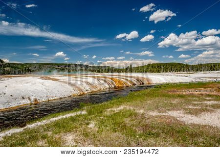 Iron Spring Creek in Yellowstone National Park, Black Sand Basin area, Wyoming, USA