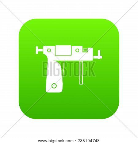 Piercing Gun Icon Digital Green For Any Design Isolated On White Vector Illustration