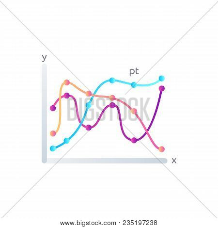 Stock Data Diagram Isolated On White Background. Infographic Element For Business Presentation Vecto