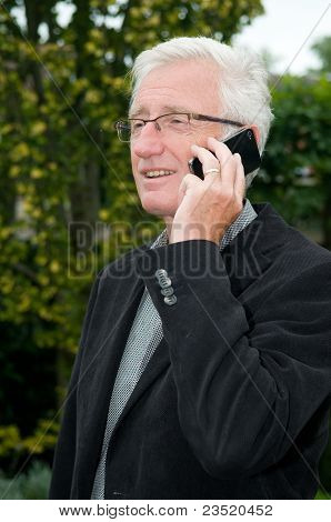Businessman Using A Smartphone