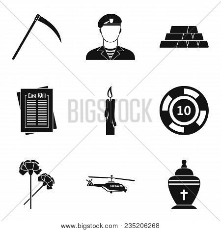 Military Contingent Icons Set. Simple Set Of 9 Military Contingent Vector Icons For Web Isolated On