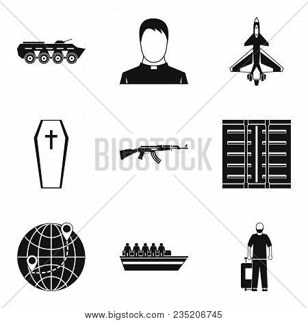 Contingent Icons Set. Simple Set Of 9 Contingent Vector Icons For Web Isolated On White Background
