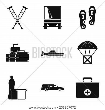 Military Crime Icons Set. Simple Set Of 9 Military Crime Vector Icons For Web Isolated On White Back
