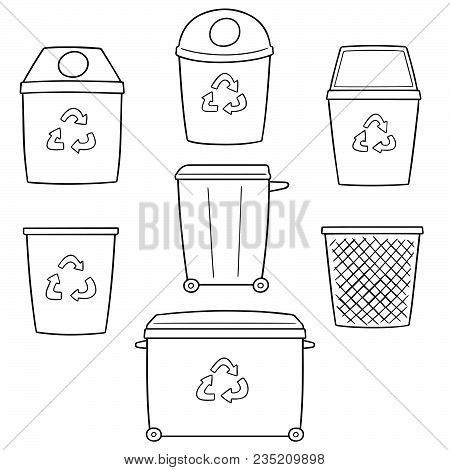 Vector Set Of Recycle Garbage Hand Drawn Cartoon