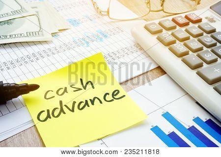 Memo Stick About Cash Advance And Calculator.