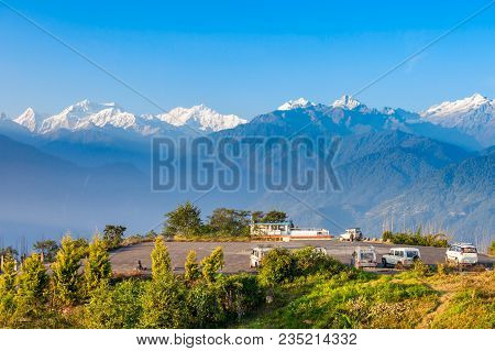 Kangchenjunga Viewpoint In Pelling In West Sikkim, India