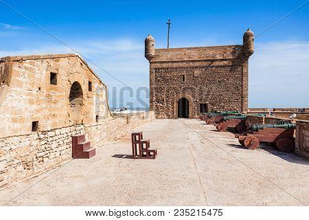 Skala Du Port Fortifications In Essaouira, Morocco. Essaouira Is A City In The Western Moroccan Regi