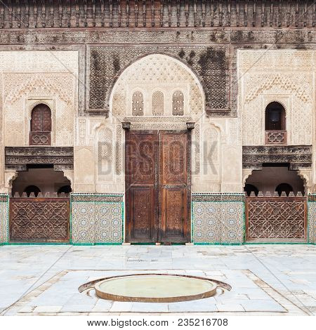 The Madrasa Bou Inania Is A Madrasa In Fes, Morocco. Madrasa Bou Inania Is Acknowledged As An Excell