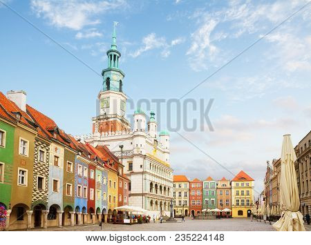 Old Market Square In Poznan At Summer Sunny Day, Poland