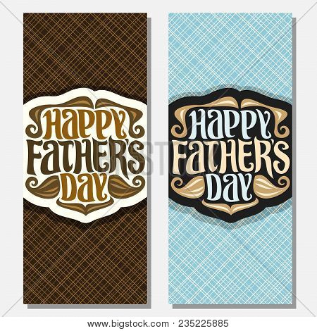 Vector Greeting Cards For Fathers Day
