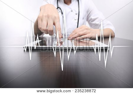 Pulse Medical Concept Background. Medicine And Healthcare