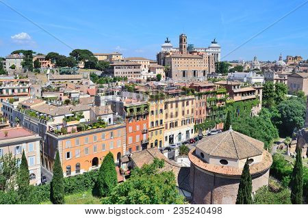 Rome, Italy. City View From The Palatine Hill