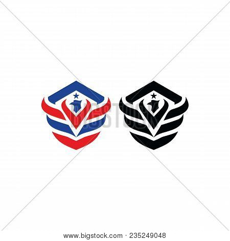Best Simple Vector Wings Logo . Winged Logo Company And Icon Wing Flying, Eagle Wing Brand And Logot