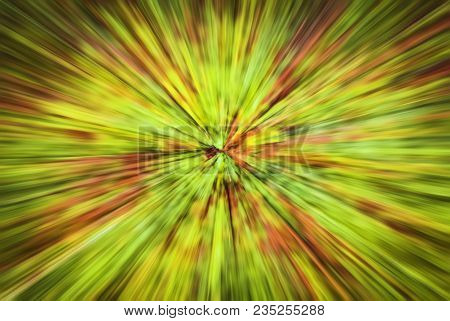Psychedelic Hypnotic Unrealistic Abstract Speedy Pink Greed Background, Motion Blur Effect, Zoom Mot