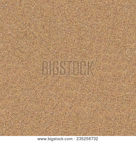 Seamless Tileable Texture Of Decorative Wall Surface Covered With Small Brown And Yellow Stones.