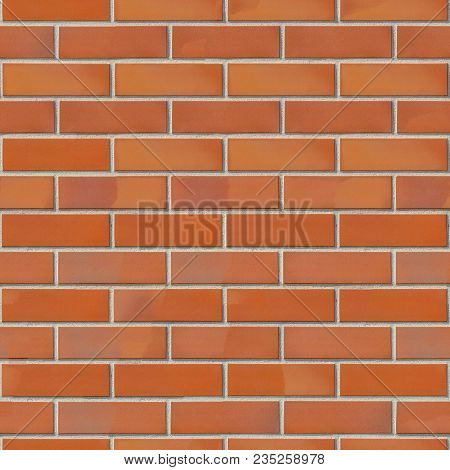 Modern Nice Clean Red Brick Wall. Seamless Tileable Texture.