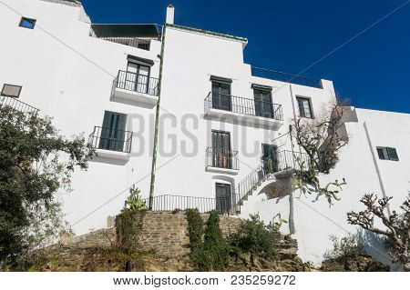 Typical White Mediterranean House, In The Small Fishing Village Of Cadaques, Typical Mediterranean V