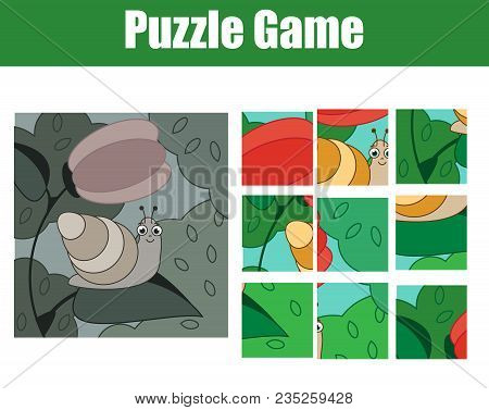 Puzzle For Toddlers. Complete The Picture, Mosaic Game. Animals Theme Activity For Children And Todd