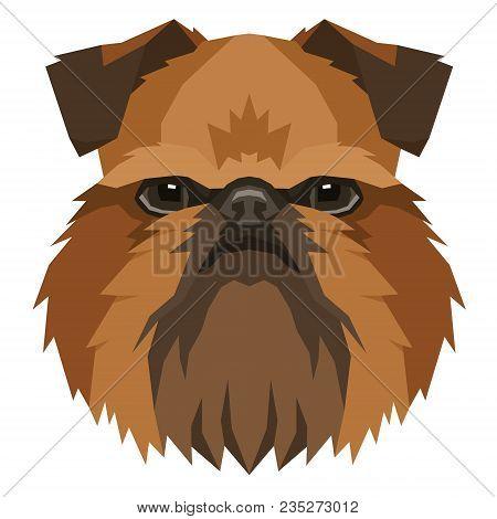 Dog Collection Griffon Bruxellois Geometric Style Avatar Icon Set