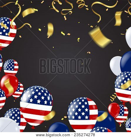 Fourth Of July. 4th Of July Holiday Banner. Usa Independence Day Banner For Sale. National American