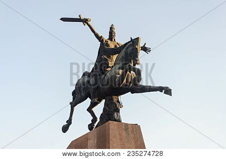 Yerevan, Armenia - October 05, 2017: Equestrian Monument To Vardan Mamikonian (388-451) - Ancient Ar