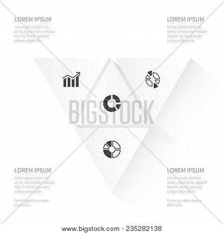 Icon Diagram Set Of Report, Chart, Segment And Other Vector Objects. Also Includes Part, Segment, Ci