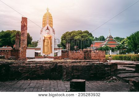 Old Temple In Thailand With Buddha Statue, Wat Phra Si Rattana Mahathat, Phra Buddha Chinnarat, Phit