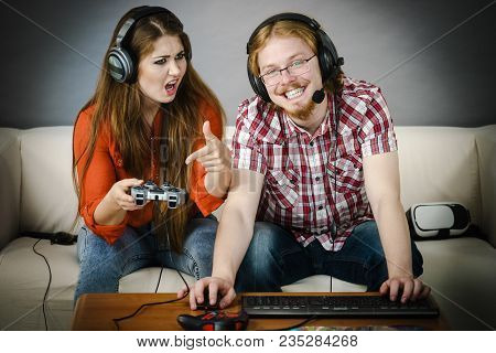 Woman Is Angry At Playing Man