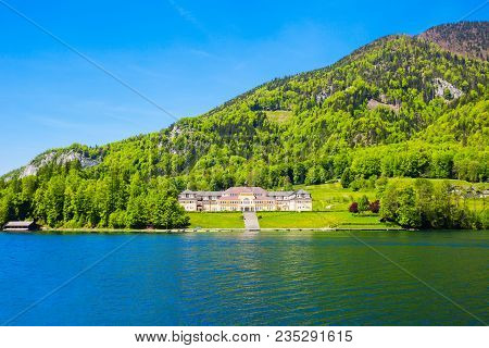 Ferienhort Building At The Wolfgangsee Lake In Austria. Wolfgangsee Is One Of The Best Known Lakes I