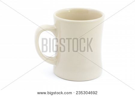Coffee Mug Or Cup Against A White Isolated Background Shot In Studio.