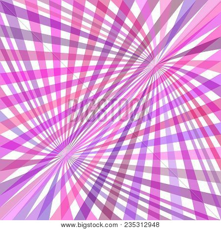 Curved Ray Pattern Background - Vector Graphic From Striped Rays In Purple Tones