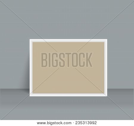 Realistic Blank Photo Frame Brochure Mockup Cover Template.