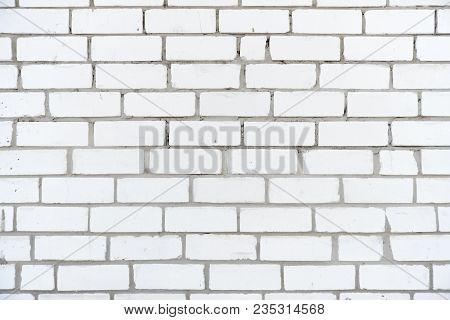 Inaccurate Old Brickwork Made Of White Silicate Brick