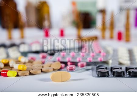 Medicine Pills In Packs Pills In Blister Pack Capsules And Pill Packed In Blisters