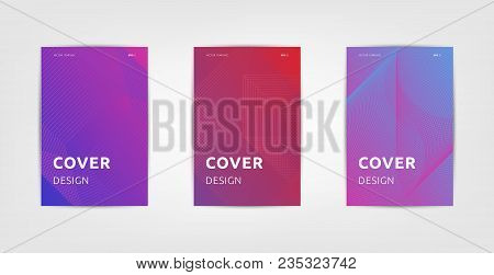 Abstract Covers Design, Gradients Vector Set.brochure Template Layout, Cover Design Annual Report, M