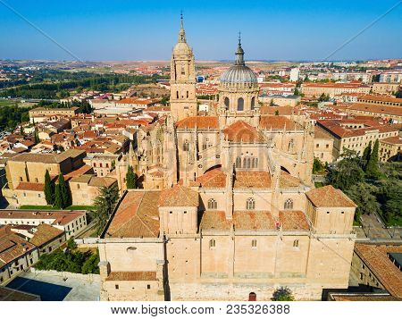 Salamanca Cathedral Is A Late Gothic And Baroque Catedral In Salamanca City, Castile And Leon In Spa