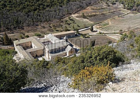 Senanque Abbey (abbaye Notre-dame De Senanque), A Cistercian Abbey Near The Village Of Gordes