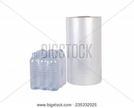 Packed Bottled Water Isolated On White Background