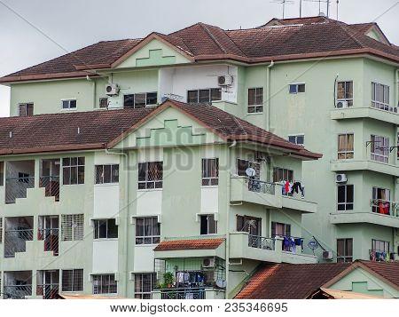Kota Kinabalu,sabah-mac 26,2018:view Of Residential Apartment At Kota Kinabalu,sabah Borneo,malaysia